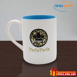 Ca cốc sứ in logo Tocotoco